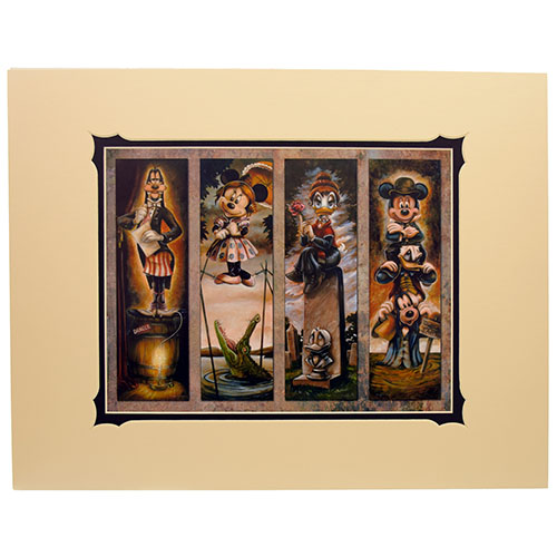 Disney Artist Print - Darren Wilson - Haunted Mansion Stretch Painting Characters