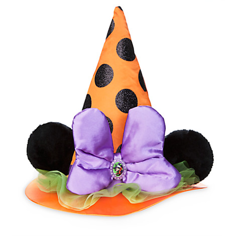 7e4b8b241da Disney Halloween Hat - Kids Minnie Witch Ears Orange with Purple Bow