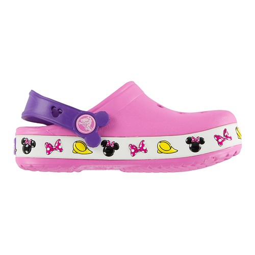 15f835baa Disney Kids Crocs Shoes - Pink Light Up Minnie Icons