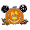 Disney Halloween Pin - Mickey Mouse Pumpkin on Leaves