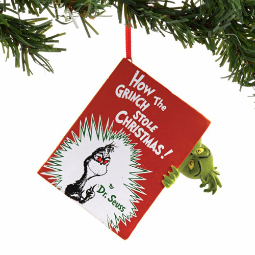 universal ornament dr seuss how the grinch stole christmas book - How The Grinch Stole Christmas Book