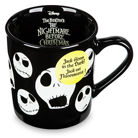 The Jack Coffee In Skellington Cup Glow Disney Dark Yfgyb67v