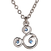 Disney Arribas Necklace - Mickey Mouse Icon Blue Gem Necklace