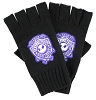 Disney Fingerless Gloves - Purple Jack Skellington Crest