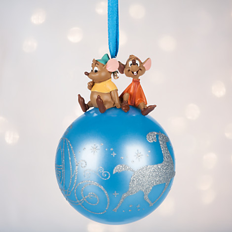 Your WDW Store Disney Sketchbook Ornament 2016 Cinderella Jaq And Gus On Glass Ball