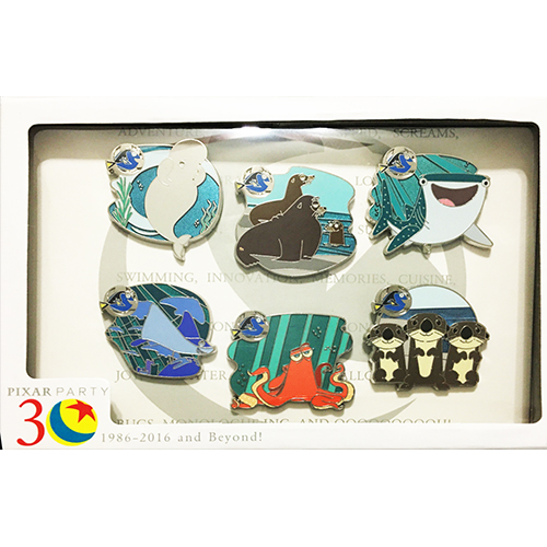 Disney Pixar Party Boxed Pin Set - Scavenger Hunt Finding Dory