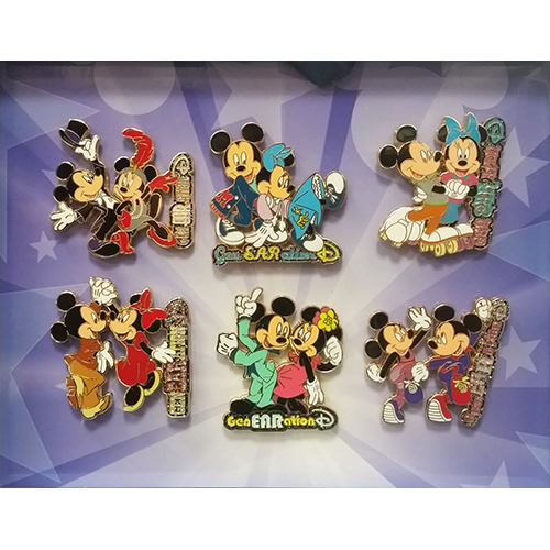 Disney GenEARation D 6 Pin Boxed Set - Dancing through the years