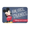 Disney Collectible Gift Card - Mickey Thanks - Aw, Gee, Thanks