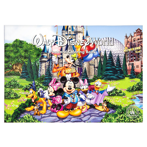 Your WDW Store - Disney Coloring Book - Walt Disney World Postcards ...