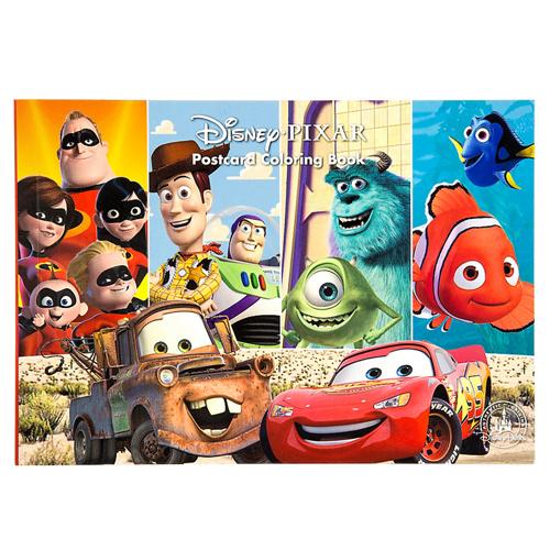 - Disney Coloring Book - Disney Pixar Postcards Coloring Book