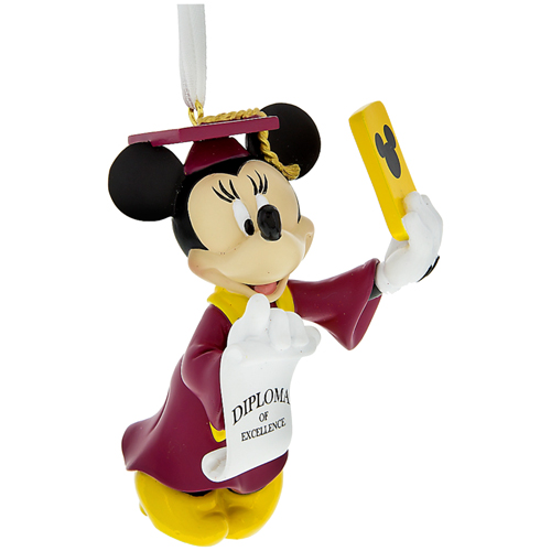 Disney Ornament - Minnie Graduation Selfie