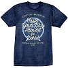 Disney Adult Shirt - Epcot Food & Wine Festival 2016 Logo Heather Blue