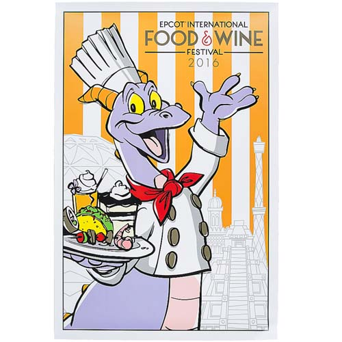 Disney Wall Poster Epcot Food And Wine Festival 2016