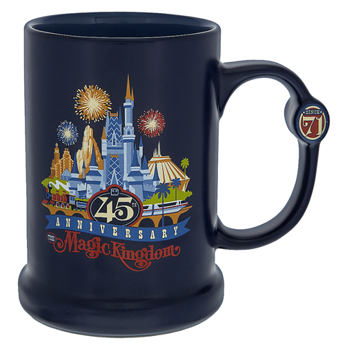 Disney Coffee Cup - Magic Kingdom 45th Anniversary - Blue