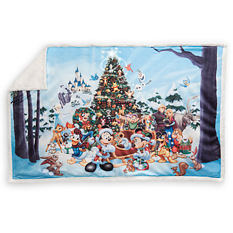 disney fleece throw blanket mickey and friends storybook holiday