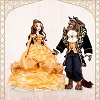 Disney Limited Edition Doll Set - Belle and Beast Platinum 18''