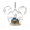 Disney Mickey Ears Christmas Ornament - Mickey Icon Fantasyland Castle