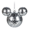 Disney Mickey Ears Christmas Ornament - Silver Mickey Confetti