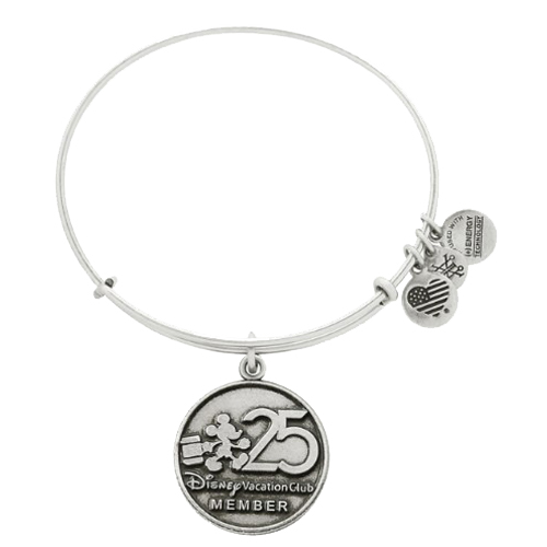 Disney Vacation Club 25th Anniversary Alex And Ani Mickey Mouse Silver Bangle