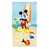 Disney Beach Towel - Mickey Mouse with Surfboard at the Beach