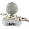 Disney Figurine Playset - Monorail - Spaceship Earth Epcot