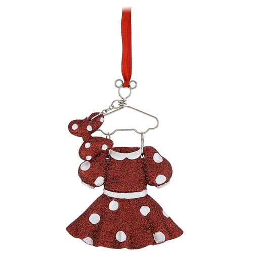 disney christmas ornament costume on hanger minnie mouse