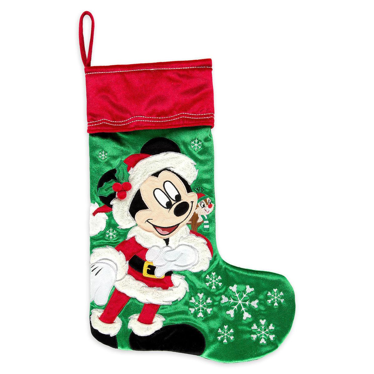 disney christmas holiday stocking santa mickey mouse helper dale - Mickey Mouse Christmas Stocking