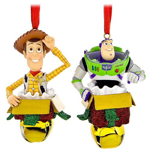 Disney Jingle Bell Ornament Set - Toy Story - Buzz and Woody