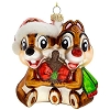 Disney Christmas Ornament - Blown Glass - Chip and Dale