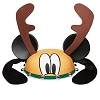 Disney Christmas Mickey Ears Hat - Holiday Pluto Reindeer Antlers