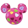 Disney Antenna Topper Ball - Valentine's Day Hearts and Kisses