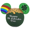 Disney Antenna Topper Ball - St. Patrick's Day Rainbow and Gold
