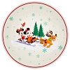 Disney Dessert Plate - Mickey & Friends Warm Winter Wishes