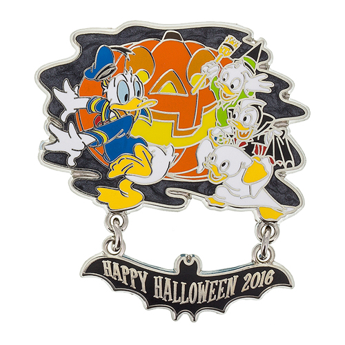 Disney Pin - Happy Halloween 2016 DVC - Donald and Nephews