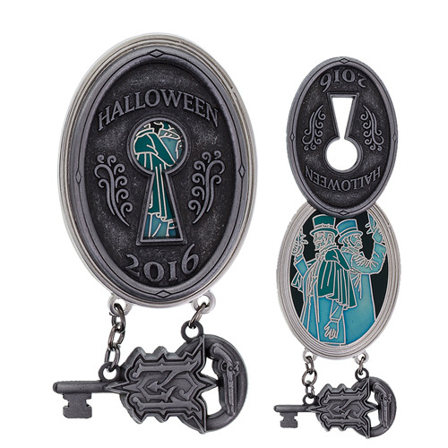 Disney Pin - Halloween 2016 - Haunted Mansion Key - Dueling Ghosts