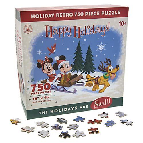 disney puzzle santa mickey and friends retro happy holidays