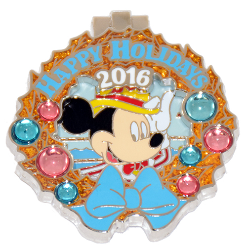 Disney Resort Holidays Pin 2016 - Boardwalk Dapper Mickey Mouse