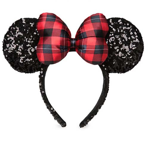 disney holiday christmas hat minnie mouse ear headband plaid bow