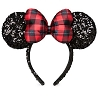 Disney Holiday Christmas Hat - Minnie Mouse Ear Headband - Plaid Bow