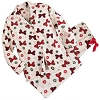 Disney Ladies Christmas Pajamas - Holiday Flannel Minnie Mouse Bows