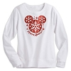 Disney LADIES Long Sleeve Shirt - Happy Holidays Mickey Snowflake Icon
