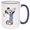Disney Coffee Cup Mug - Golfing Mickey - Blue and White