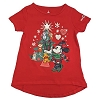 Disney Girls Holiday Shirt - Festive Santa Minnie and Friends