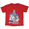 Disney Toddler Shirt - Happy Holidays Festive Santa Mickey Mouse