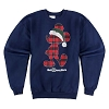 Disney Adult Fleece Shirt - Plaid Santa Mickey Long Sleeve Sweatshirt