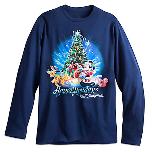 M Walt Disney World Parks Mickey Christmas Happy Holidays Shirt Adult Medium