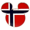 Disney Mickey Icon Pin - Global Ears Icon - Norway Flag