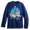 Disney Adult Long Sleeve Shirt - Happy Holidays Santa Mickey Mouse