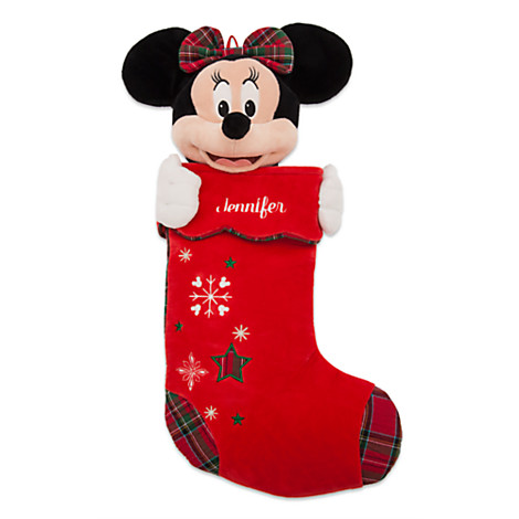 disney christmas holiday stocking plush minnie