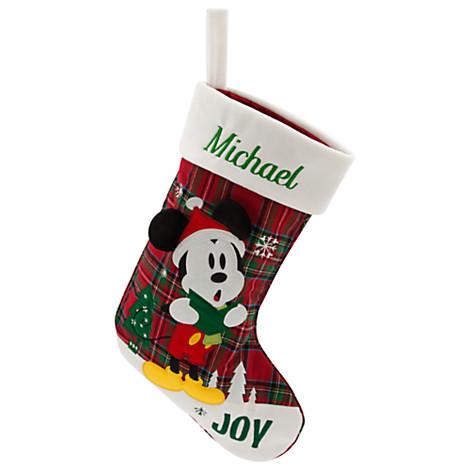 disney christmas holiday stocking mickey mouse joy - Mickey Mouse Christmas Stocking